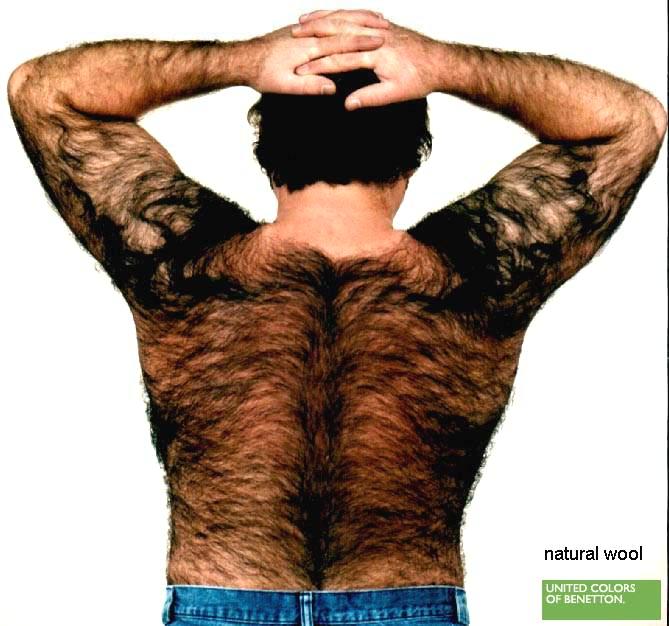 Haare Rücken